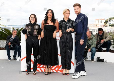 Jury Members: German producer Nurhan Sekerci-Porst, President of the Jury, Lebanese actress Nadine Labaki, French actress Marina Fois and Belgian director Lukas Dhont pose during the Un Certain Regard Jury photocall at the 72nd annual Cannes Film Festival, in Cannes, France, 15 May 2019. The festival runs from 14 to 25 May.