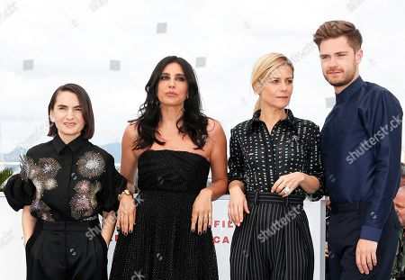 German producer Nurhan Sekerci-Porst, President of the Jury, Lebanese actress Nadine Labaki, French actress Marina Fois and Belgian director Lukas Dhont pose during the Un Certain Regard Jury photocall at the 72nd annual Cannes Film Festival, in Cannes, France, 15 May 2019. The festival runs from 14 to 25 May.