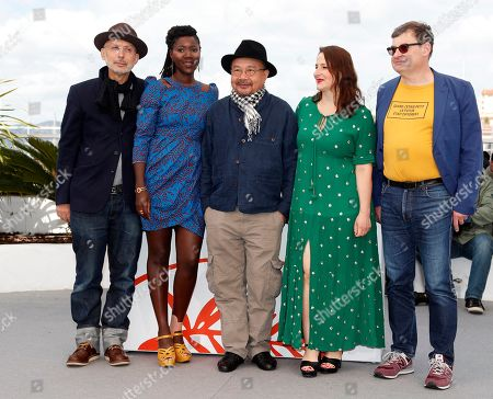 Jury members: French cinematographer Benoit Delhomme, French director Alice Diop, President of the Jury, Cambodian-French director Rithy Panh, French filmmaker Sandrine Marques and Nicolas Naegelen pose during the Camera d'Or Jury photocall at the 72nd annual Cannes Film Festival, in Cannes, France, 15 May 2019. The festival runs from 14 to 25 May.