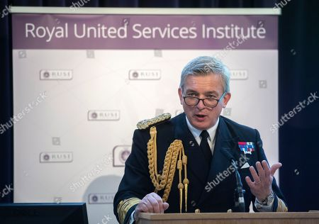 Editorial picture of Penny Mordaunt speaks Royal United Services Institute, London, United Kingdom - 15 May 2019