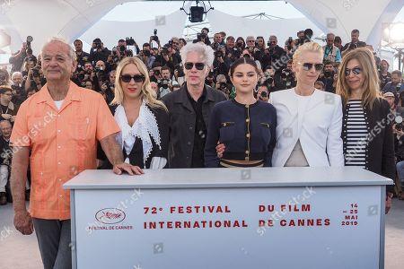 Bill Murray, Chloe Sevigny, director Jim Jarmusch, Selena Gomez, Tilda Swinton and Sara Driver