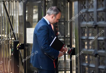 Downing Street Chief of Staff Gavin Barwell is seen arriving at the Houses of Parliament in Westminster, London. Government has announced that MPs will get another chance to vote on Theresa May's Brexit Bill in early June, after EU parliament elections.