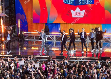 """Editorial image of BTS Perform on ABC's """"Good Morning America"""", New York, USA - 15 May 2019"""