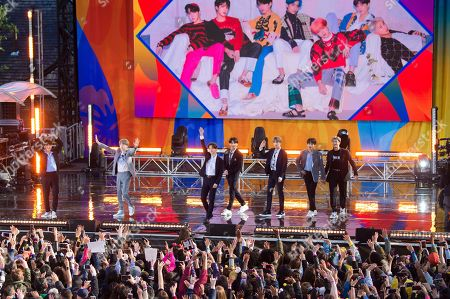 """Jeremy Dawson, The Guidance. South Korean boy band BTS perform on ABC's """"Good Morning America at Rumsey Playfield/SummerStage in Central Park, in New York"""