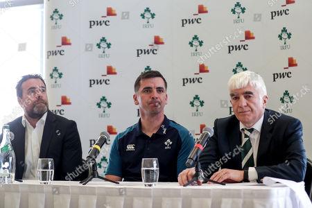 PwC Partner Paraic Joyce, head coach Noel McNamara and Tony O'Beirne, IRFU Committee