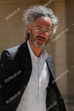 Stock Picture of Alex Karp, Chief Executive Officer of Palantir, arrives for the Tech for Good summit in Paris, in Paris. World leaders and tech bosses meet Wednesday in Paris to discuss ways to prevent social media from spreading deadly ideas