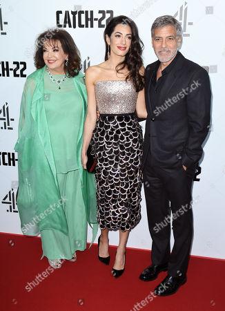 Baria Alamuddin, Amal Clooney and George Clooney