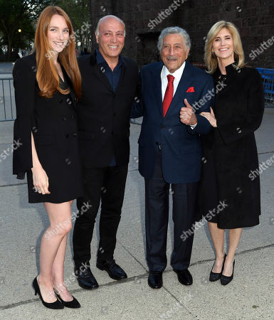 Stock Picture of Tony Bennett, Susan Crow and guests