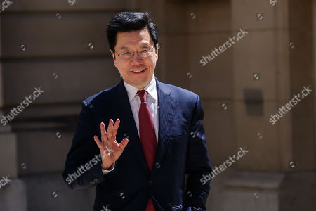 Stock Picture of Kai-Fu Lee Chairman & CEO, Sinovation Ventures arrives at the Tech for Good summit, in Paris, France, 15 May 2019. Tech for Good summit is held at Elysee palace with several world leaders and tech bosses as part of the 'Christchurch Call' meeting which aims at ways to tackle and eliminate terrorism and violent extremist content online.