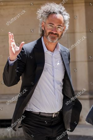 Alex Karp CEO, Palantir arrives at the Tech for Good summit, in Paris, France, 15 May 2019. Tech for Good summit is held at Elysee palace with several world leaders and tech bosses as part of the 'Christchurch Call' meeting which aims at ways to tackle and eliminate terrorism and violent extremist content online.