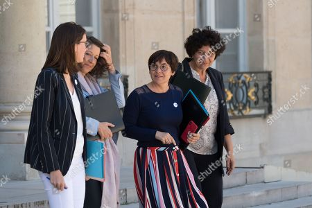 French Minister of European Affairs Amelie de Montchalin, French Health and Social Affairs Minister Agnes Buzyn, French Overseas Minister Annick Girardin and French High Education and Research Minister Frederique Vidal