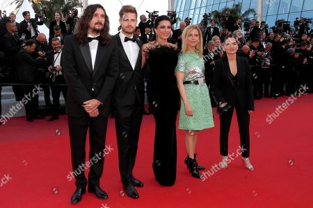 Un Certain Regard jury Lisandro Alonso, Lukas Dhont, Nadine Labaki, Marina Fois and Nurhan Sekerci-Porst arrive for the screening of 'Les Miserables' during the 72nd annual Cannes Film Festival, in Cannes, France, 15 May 2019. The movie is presented in the Official Competition of the festival which runs from 14 to 25 May.