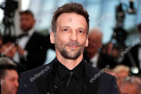Mathieu Kassovitz arrives for the screening of 'Les Miserables' during the 72nd annual Cannes Film Festival, in Cannes, France, 15 May 2019. The movie is presented in the Official Competition of the festival which runs from 14 to 25 May.