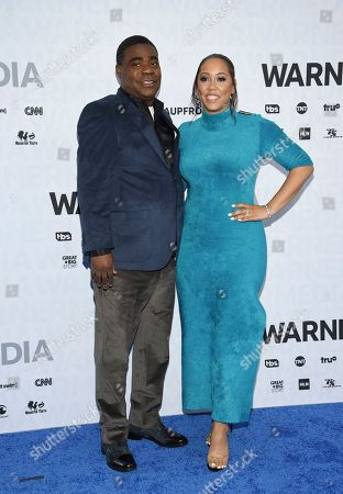 Tracy Morgan, Megan Wollover. Actor Tracy Morgan, left, and wife Megan Wollover attend the WarnerMedia Upfront at Madison Square Garden, in New York