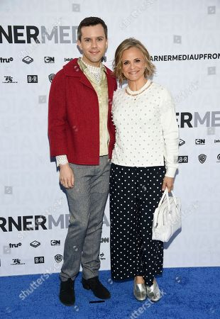 Stock Photo of Cole Escola, Amy Sedaris. Cole Escola, left, and Amy Sedaris attend the WarnerMedia Upfront at Madison Square Garden, in New York