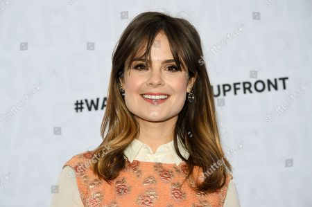 Amy Hoggart attends the WarnerMedia Upfront at Madison Square Garden, in New York