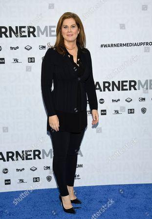 CNN news anchor Erin Burnett attends the WarnerMedia Upfront at Madison Square Garden, in New York