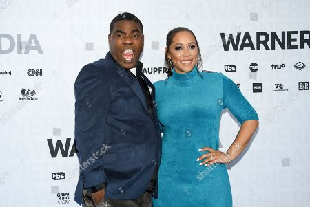 Tracy Morgan, Megan Wollover. Actor Tracy Morgan, left, and his wife Megan Wollover attend the WarnerMedia Upfront at Madison Square Garden, in New York