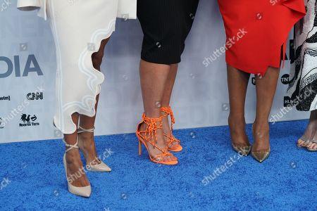 Karrueche Tran, Jenn Lyon, Niecy Nash, Carrie Preston, Judy Reyes, shoe detail