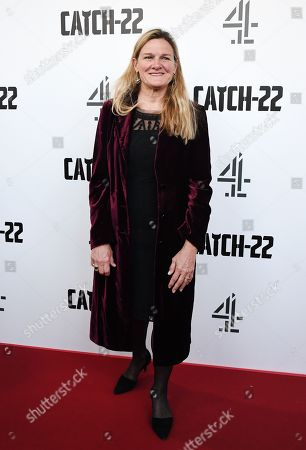 Stock Photo of Ellen Kuras arrives for the premiere of 'Catch 22' in London, Britain, 15 May 2019. Produced and directed by George Clooney, the TV adaptation of the classic satirical novel Catch-22 is set to air in 2019.
