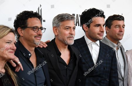 Ellen Kuras, US director Grant Herslov, US actor and director George Clooney, US actor Christopher Abbott and US actor Kyle Chandler pose during the premiere of 'Catch 22' in London, Britain, 15 May 2019. Produced and directed by George Clooney, the TV adaptation of the classic satirical novel Catch-22 is set to air in 2019.