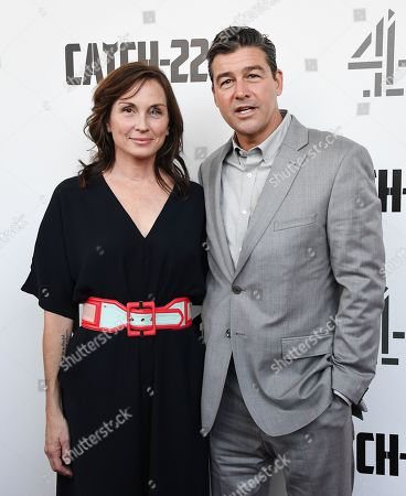 Kyle Chandler (R) with his wife Kathryn Chandler arrive for the premiere of 'Catch 22' in London, Britain, 15 May 2019. Produced and directed by Clooney, the TV adaptation of the classic satirical novel Catch-22 is set to air in 2019.