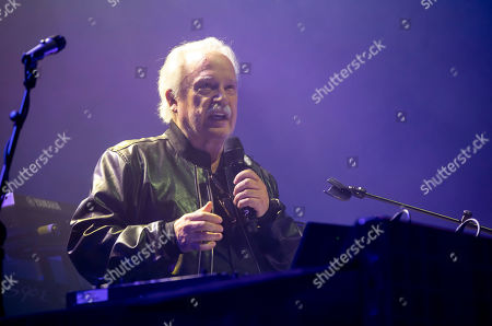 Italian singer, songwriter, DJ and record producer Giorgio Moroder performs during 'The Celebration of the '80s Tour' concert in Papp Laszlo Budapest Sports Arena, in Budapest, Hungary, 15 May 2019.