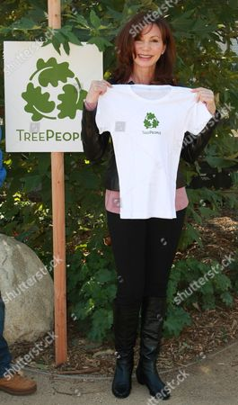 Editorial image of Victoria Principal Press Conference at Treepeople Headquarters, Los Angeles, America - 30 Oct 2009