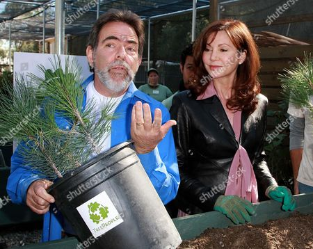 Stock Photo of Andy Lipkis Founder of Treepeople and Victoria Principal