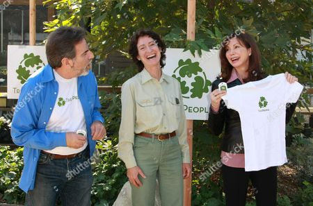 Stock Picture of Andy Lipkis Founder of Treepeople, Jody Noiron, Victoria Principal