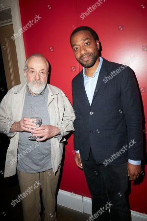 """Mike Leigh OBE FRSL and Chiwetel Ejiofor attend a special screening of Chiwetel Ejiofor's film """"The Boy Who Harnessed The Wind' to raise funds for the Disasters Emergency Committee's Cyclone Idai Appeal"""