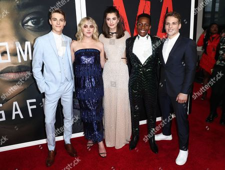 Corey Fogelmanis, McKaley Miller, Diana Silvers, Dante Brown and Gianni Paolo
