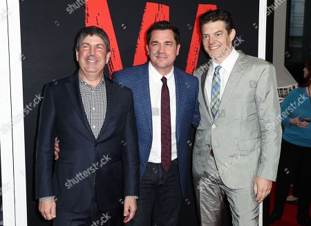 Jeff Shell, Tate Taylor and Jason Blum