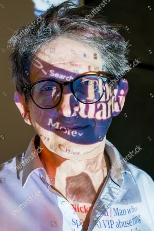 Stock Photo of Alan Rusbridger gives a talk at The Queens College