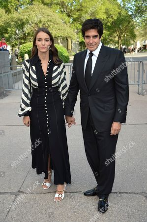 Chloe Gosselin, David Copperfield. Magician David Copperfield and girlfriend Chloe Gosselin attend the Statue of Liberty Museum opening celebration at Battery Park, in New York