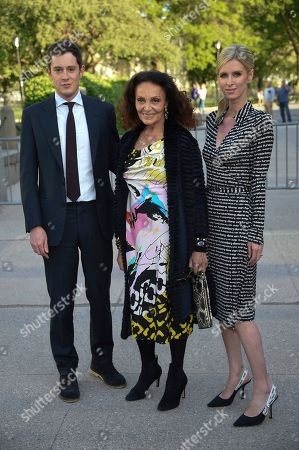 James Rothschild, Diane von Furstenberg, Nicky Hilton Rothschild. Diane von Furstenberg, center, poses with Nicky Hilton Rothschild, right, and husband James Rothschild attend the Statue of Liberty Museum opening celebration at Battery Park, in New York