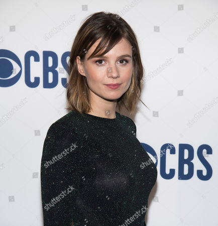 Katja Herbers attends the CBS 2019 upfront at The Plaza, in New York