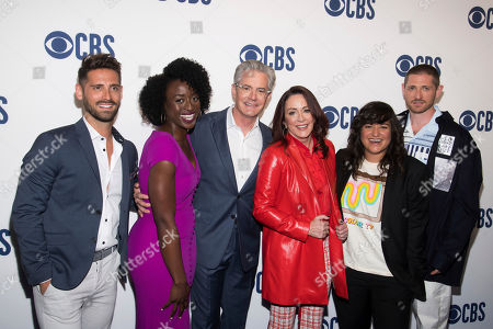 Jean-Luc Bilodeau, Ito Aghayere, Kyle MacLachlan, Patricia Heaton, Sabrina Jalees, Lucas Neff. Jean-Luc Bilodeau, left, Ito Aghayere, Kyle MacLachlan, Patricia Heaton, Sabrina Jalees and Lucas Neff attend the CBS 2019 upfront at The Plaza, in New York