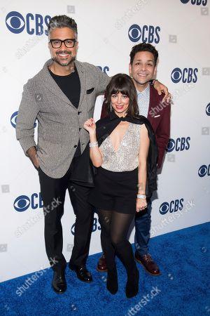 Jaime Camil, Natasha Leggero, Izzy Diaz. Jaime Camil, left, Natasha Leggero and Izzy Diaz attend the CBS 2019 upfront at The Plaza, in New York