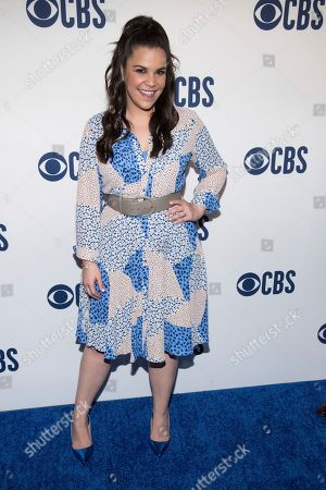 Lindsay Mendez attends the CBS 2019 upfront at The Plaza, in New York