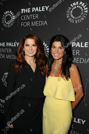 Debra Messing and Maureen J. Reidy (CEO; Paley Center for Media)