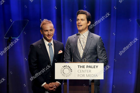 Stock Image of Robin Lord Taylor and Matt Bomer