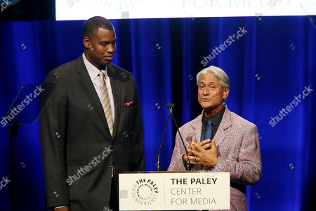 Stock Picture of Jason Collins and Greg Louganis