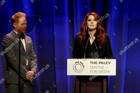 Jesse Tyler Ferguson and Debra Messing