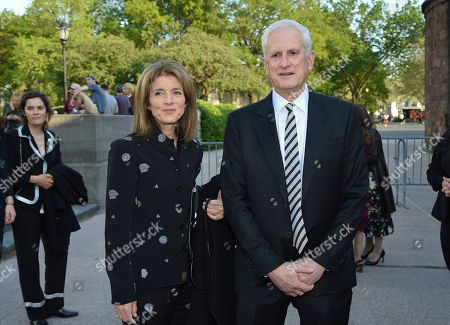 Stock Picture of Caroline Kennedy, Edwin Schlossberg. Caroline Kennedy, left, and husband Edwin Schlossberg attend the Statue of Liberty Museum opening celebration at Battery Park, in New York