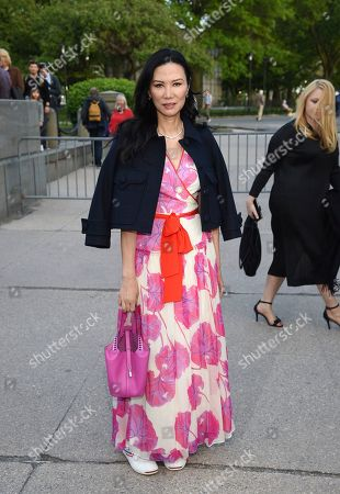 Wendi Deng Murdoch attends the Statue of Liberty Museum opening celebration at Battery Park, in New York