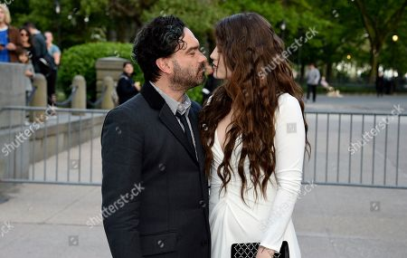 Johnny Galecki, Alaina Meyer. Actor Johnny Galecki, left, and pregnant girlfriend Alaina Meyer attend the Statue of Liberty Museum opening celebration at Battery Park, in New York
