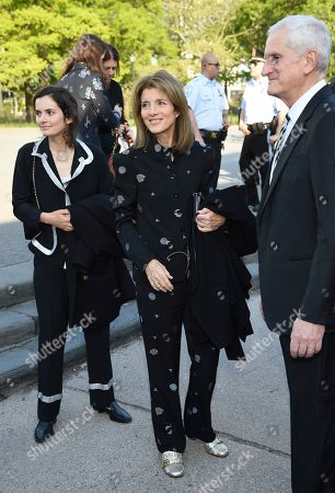 Rose Schlossberg, Caroline Kennedy, Edwin Schlossberg. Rose Schlossberg, left, Caroline Kennedy and Edwin Schlossberg attend the Statue of Liberty Museum opening celebration at Battery Park, in New York