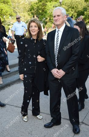 Stock Photo of Caroline Kennedy, Edwin Schlossberg. Caroline Kennedy, left, and husband Edwin Schlossberg attend the Statue of Liberty Museum opening celebration at Battery Park, in New York