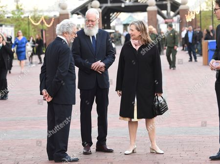 Stock Picture of David Letterman, Regina Lasko. Talk show host David Letterman, center, and wife Regina Lasko attend the Statue of Liberty Museum opening celebration at Battery Park, in New York